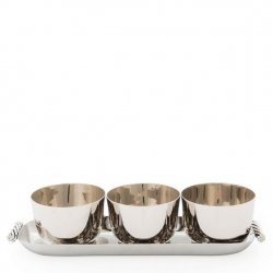 Michael Aram Twist Set of 3 Bowls and Tray