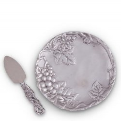 "Arthur Court Grape 8"" Plate with Server"