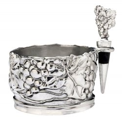 Arthur Court Grape Wine Caddy and Stopper Set