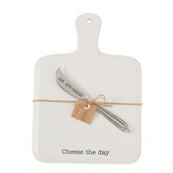 Mud Pie Cheese Tray with Spreader