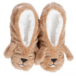 Faceplant Dreams Dog Slippers - Brown