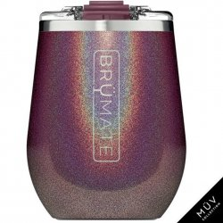 Brumate 14 oz Insulated Wine Tumbler - Glitter Merlot