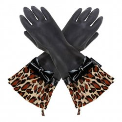 Gloveable Black with Leopard Print