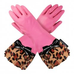 Gloveable Pink with Leopard Print
