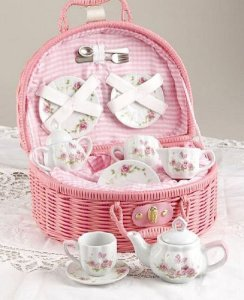 Delton Tea Set - Pink Rosebud