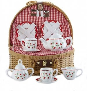 Delton Tea Set - Gingham Cherry