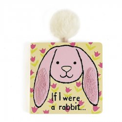 Jellycat Board Book - If I Were a Rabbit - Pink Bunny