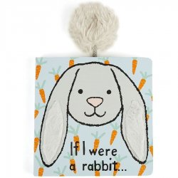 Jellycat Board Book - If I Were a Rabbit - Grey Bunny