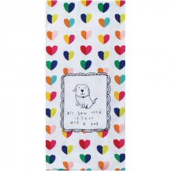 "Kay Dee Designs Tea Towel - ""All you need is love and a dog"""