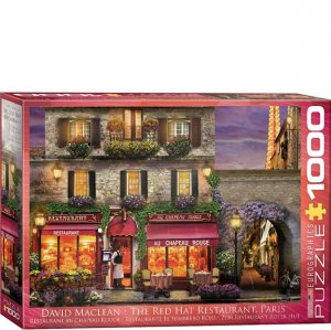 Eurographics Puzzle - 1000 pc The Red Hat Restaurant Paris