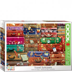 Eurographics Puzzle - 1000 pc Travel Suitcases