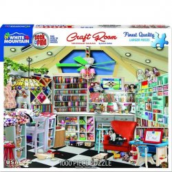 White Mountain 1000 pc Puzzle - Craft Room Seek and Find