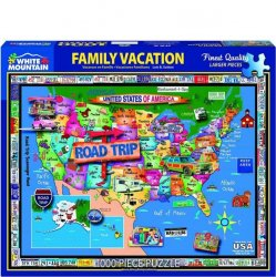 White Mountain 1000 pc Puzzle - Family Vacation