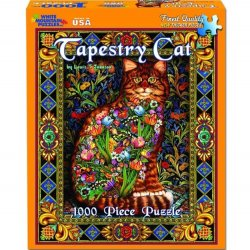 White Mountain 1000 pc Puzzle - Tapestry Cats