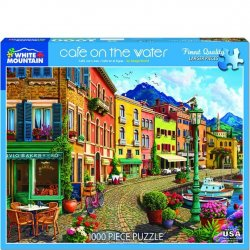 White Mountain 1000 pc Puzzle - Cafe on the Water