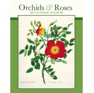 Coloring Book - Orchids & Roses