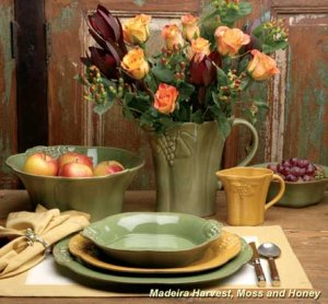 "CASAFINA ""Madeira Harvest"" Soup Bowl - Cream, Style #MA217"