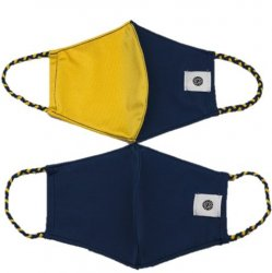 Face Mask 2 Pack - Navy/Yellow 2-Tone and Navy Solid