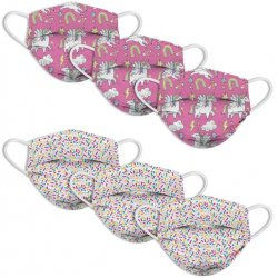 Kids 6 Pack Face Mask - Sprinkles & Unicorns