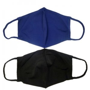Face Mask 2 Pack - Navy Solid and Black Solid