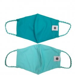 Face Mask 2 Pack - Aquamarine Solid and Mint Solid