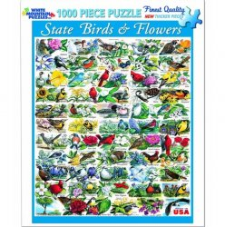 White Mountain 1000 pc Puzzle - State Birds and Flowers