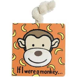 Jellycat Board Book - If I Were a Monkey