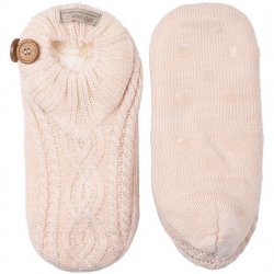 Cable Footsie with Grippers - Pale Pink