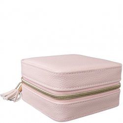 Travel Square Jewelry Case - Pink