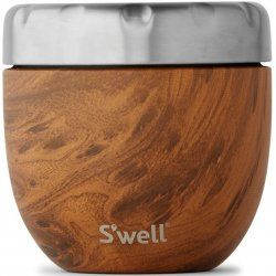 S'well Eats 2-in-1 Nesting Food Bowl - Teak Wood