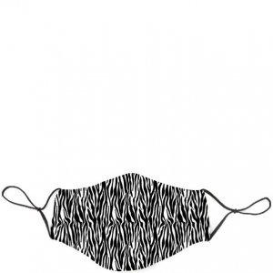 Fabric Face Mask - Black Zebra
