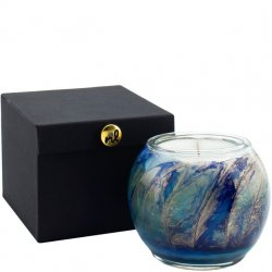Northern Lights Painted Globe Candle - Cucumber & Lily