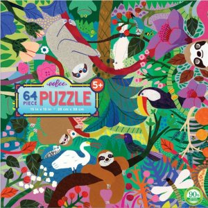 Eeboo 64 pc Puzzle - Sloths At Play