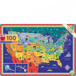 Eeboo 100 pc Puzzle - This is Your Land USA