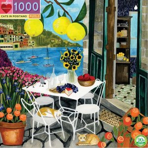 Eeboo 1000 pc Puzzle - Cats in Positano