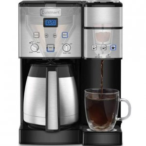 Cuisinart 10 Cup Thermal Coffee Maker and Single Serve Brewer