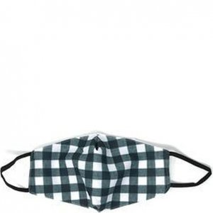 2 Pack Cotton Lined Face Mask - Black/White Check