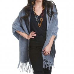 Cape Plush with Sleeves - Grey