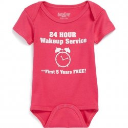 Onesie - 24 Hour Wake Up Service in Hot Pink
