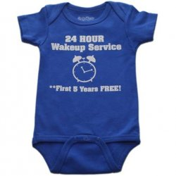 Onesie - 24 Hour Wake Up Service in Royal Blue