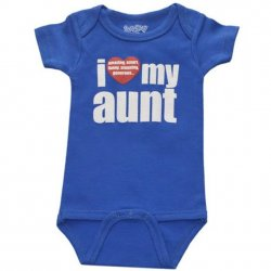 Onesie - I Love My Aunt in Royal