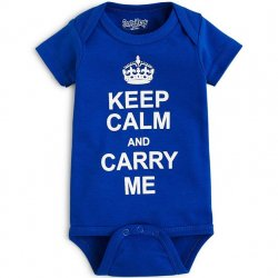 Onesie - Keep Calm and Carry Me in Royal
