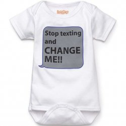 Onesie - Stop Texting in White