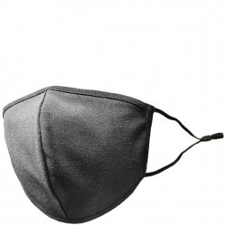 Adult Adjustable Cotton/Blend Face Mask - Solid Black