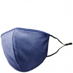 Adult Adjustable Cotton/Blend Face Mask - Solid Navy