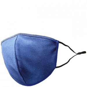 Adult Adjustable Cotton/Blend Face Mask - Solid Royal Blue