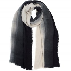 Brushed Ombre Scarf - Black