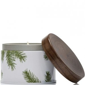 Thymes Frasier Fir Covered Candle in Tin