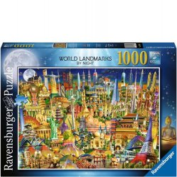 Ravensburger 1000 PC Puzzle - World Landmarks at Night