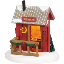 Department 56 Lit Village Outhouse